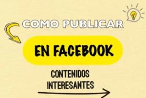 como publicar en facebook