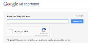 Acortador URL 2 - Google URL Shortener