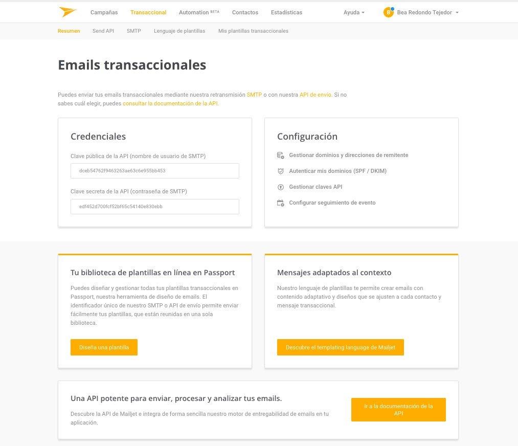 Mailjet - Email transaccionales